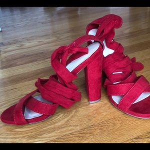 New Without Tags Wild Diva Lounge lace-up sandals!